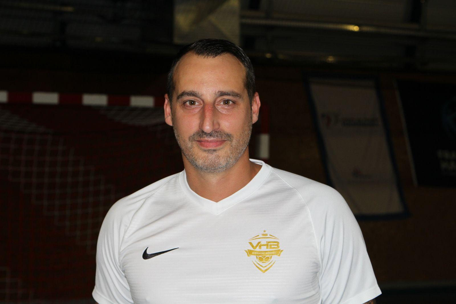 Olivier Odisio entraîneur de l'équipe de Nationale 2 de Vénissieux Handball