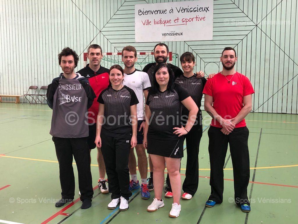 L'équipe senior 3 du Badminton Vénissieux Sud-Est