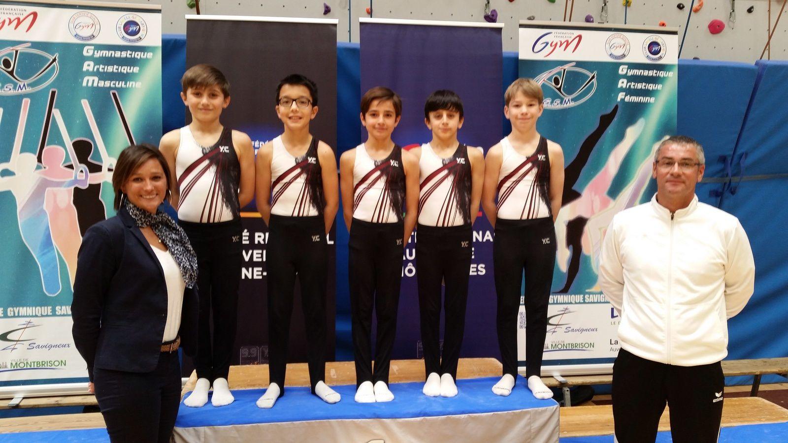 L'équipe des garçons 10/11 ans Nationale A du CMOV Gym