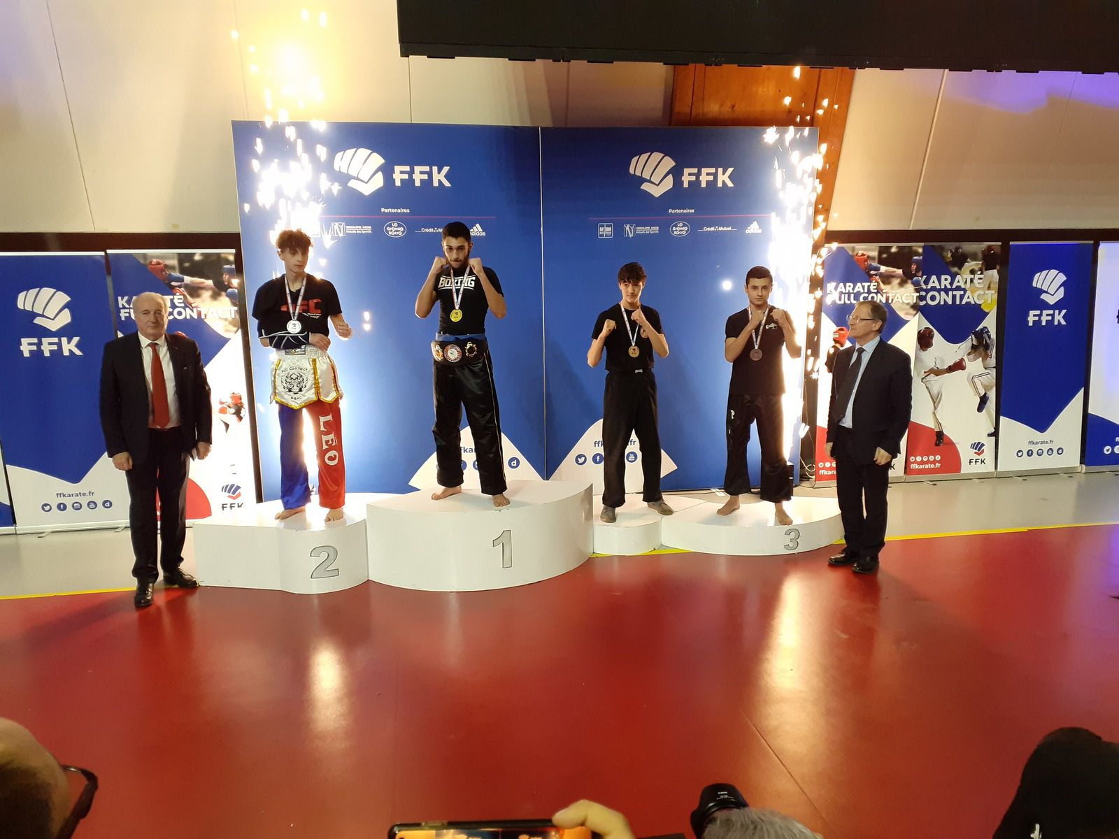 LES karatékas vénissians se sont distingués à l'Open International de light et full-contact de Paris - Photos : © avec l'aimable autorisation du Bunkaï Karate Do full-contact