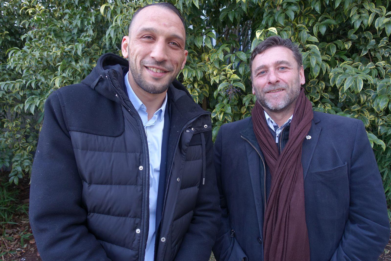 Mehdi Gana et Jean-Pierre Gana lors de la presentation en fevrier 2018 du projet de fusion