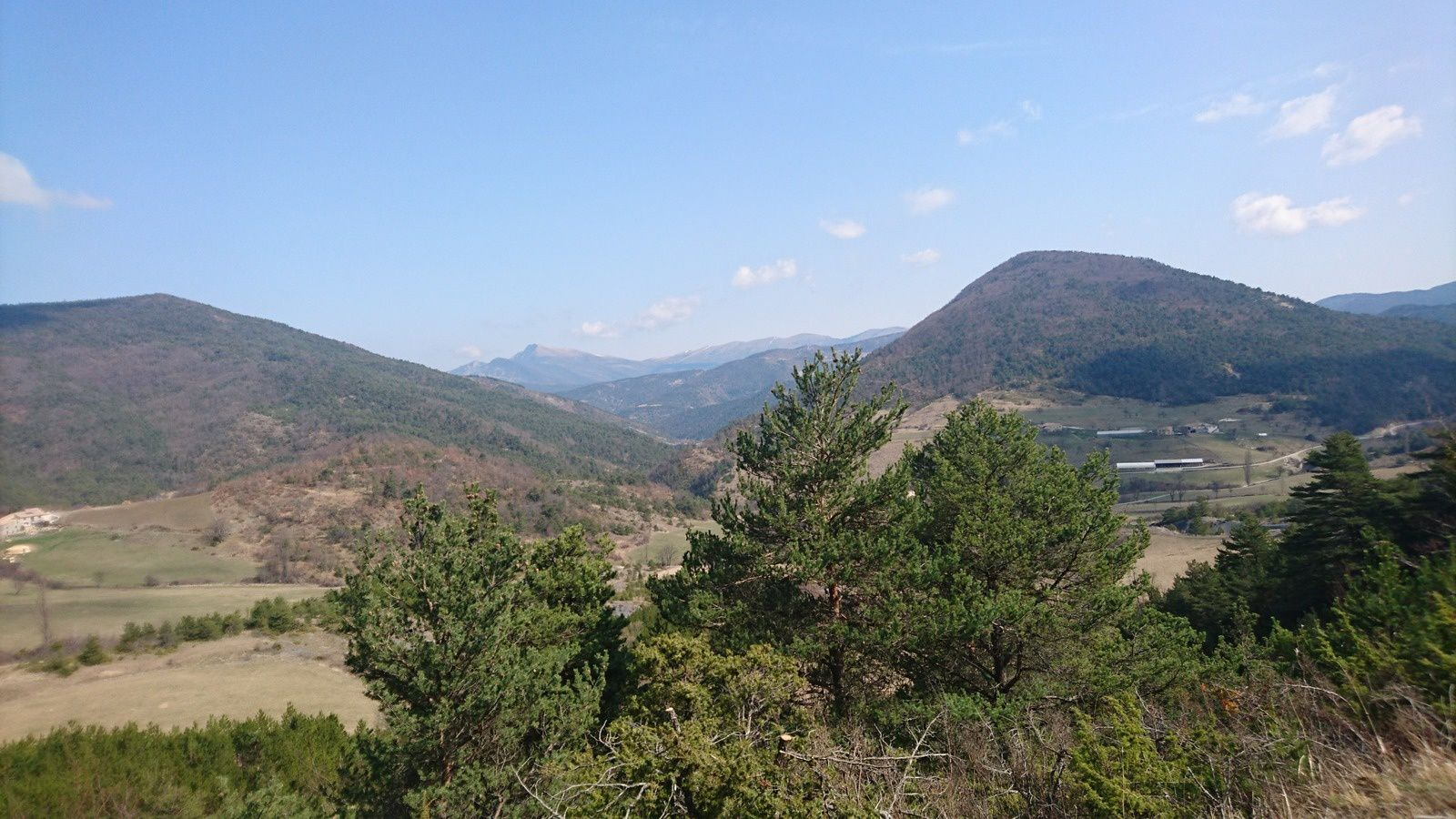 Panorama avant le col de Lescou
