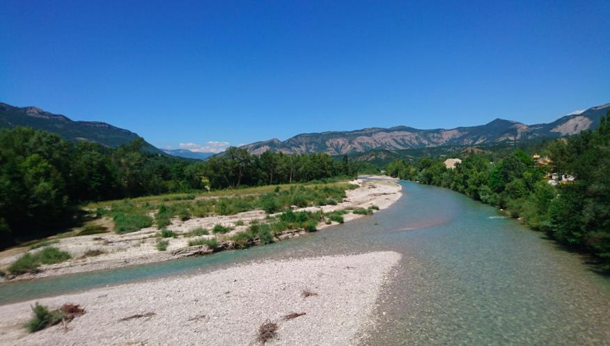 La Drôme à Vercheny