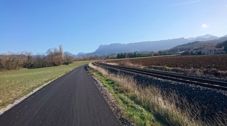 La voie verte entre Aouste sur Sye et Piégros la Clastre
