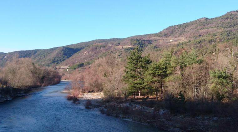 La Drôme en aval de Saillans