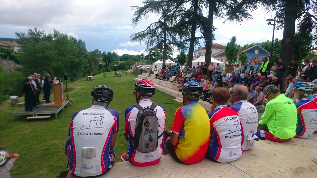 Inauguration du tronçon de la Vélodrôme, entre Crest et Saillans