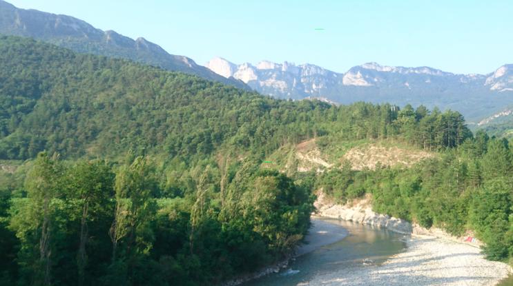 La Drôme et les Trois-Becs, à Saillans