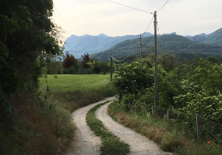 Le chemin de mes allers-retours de 500 m, avec vue sur les Trois-Becs