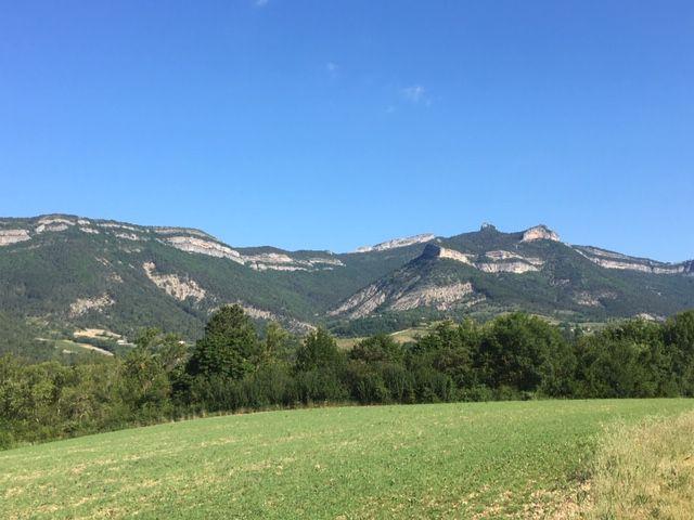 Les montagnes à Vercheny