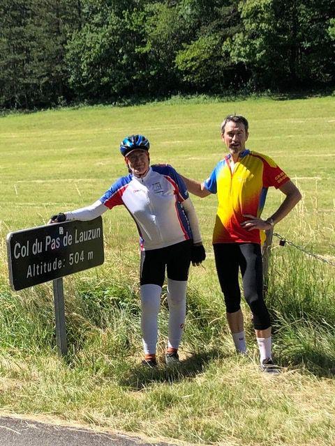 Col du Pas de Lauzun, col de Lunel, avec Jérôme