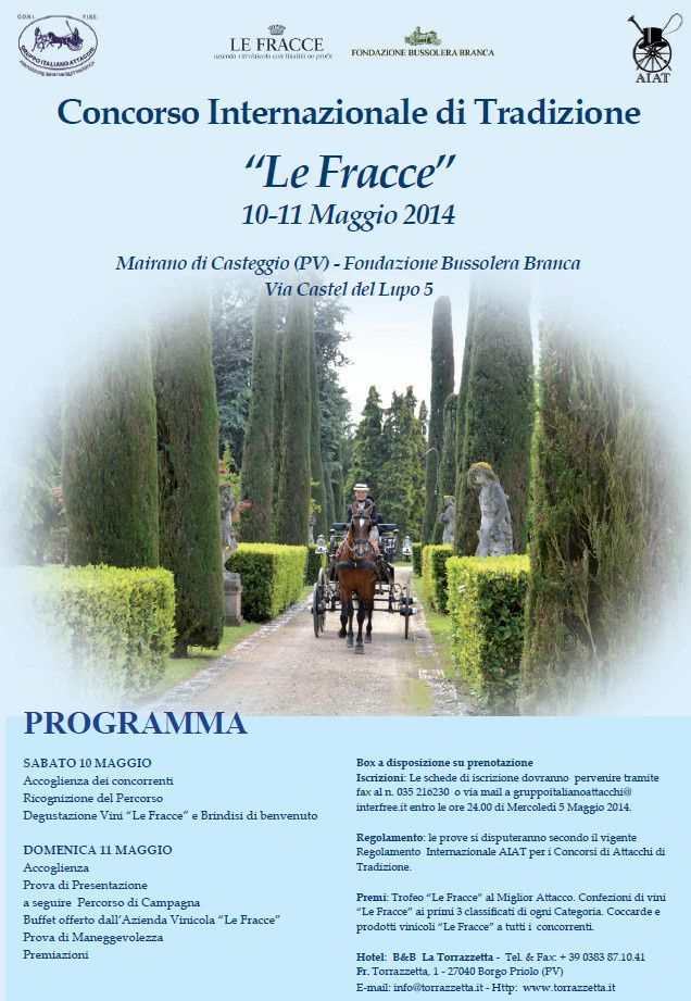 "CIAT ""Le Fracce"" 10-11 Mai Dossier d'inscription"