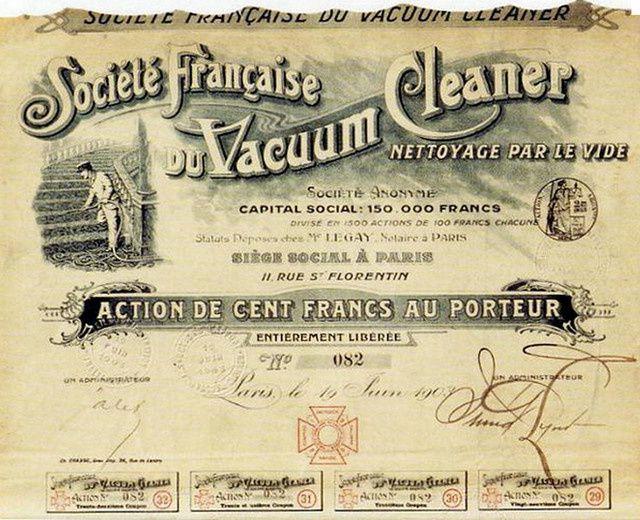 Voiture de nettoyage, ou la création du 1° aspirateur.