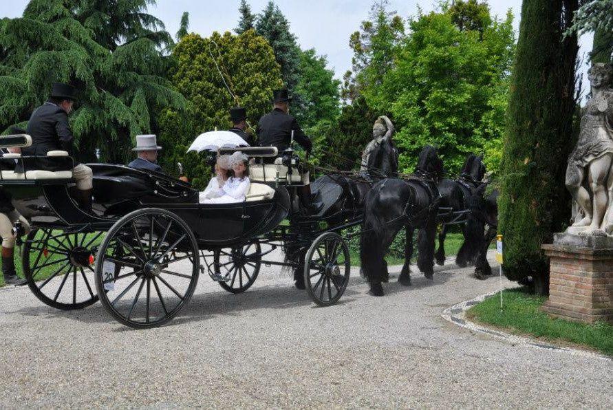 Le charme des carrosses dans une ambiance de conte!