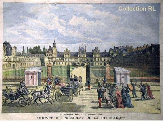 Arrivée du président à Fontainebleau; 1892