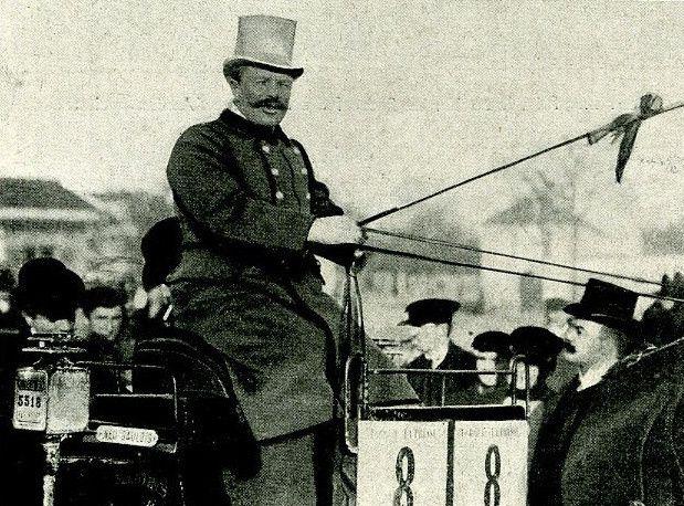 Course de Fiacre en 1904 présentée par le vainqueur