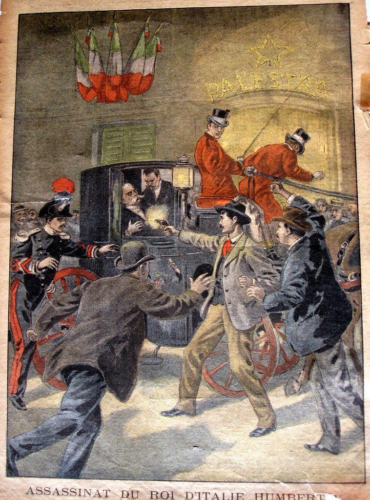 Monza, 29 juillet 1900. Assassinat du roi d'Italie Umberto 1er