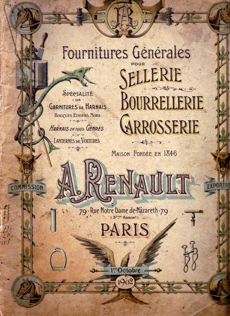 Catalogue d'éléments de carrosserie (Ets Renault)