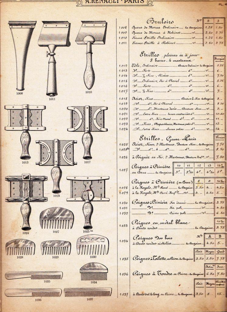 Catalogue d'éléments de sellerie (Ets Renault)