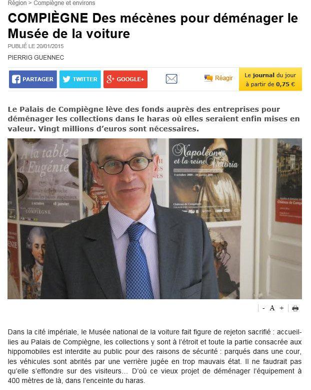 Compiègne 19/02/2015; Appel au mécénat,...!