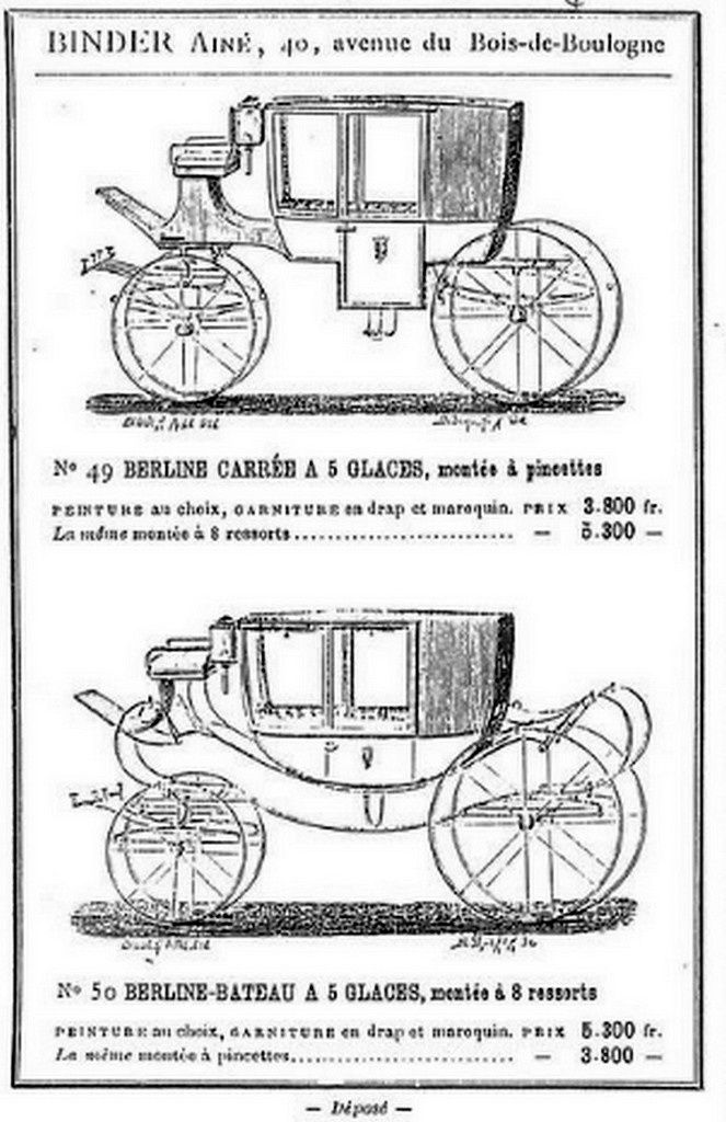 Catalogues Binder ainé 1879 1880 1890