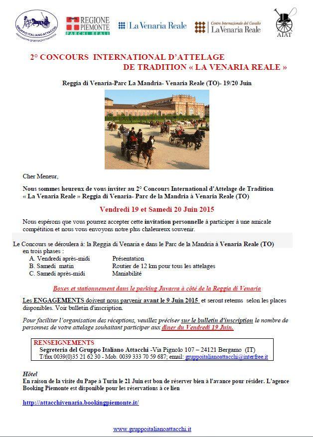 Dossier d'inscription: CIAT Veneria Reale 19 et 20 Juin