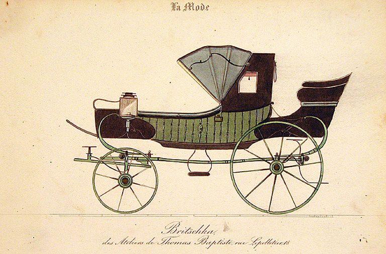 Briska, modèle de Thomas Baptiste, carrossier à Paris, vers 1830