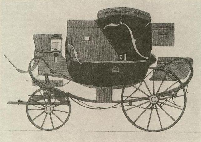Calèche de voyage, dessin de N. Koller, vers 1830