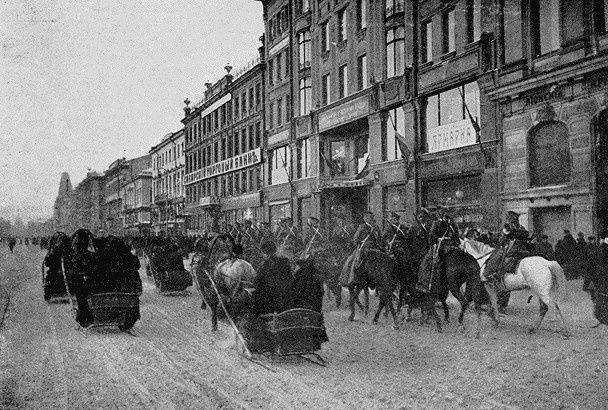 Les transports publics à Saint Petersbourg en 1888