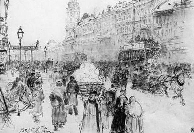 Hiver  à Saint Petersbourg en 1887 Liya Repin