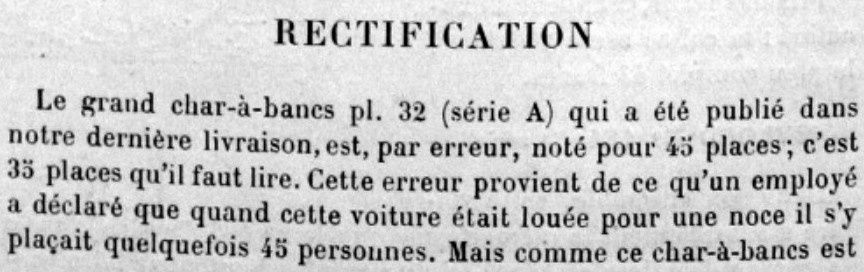 Char à bancs de 35 places en 1886