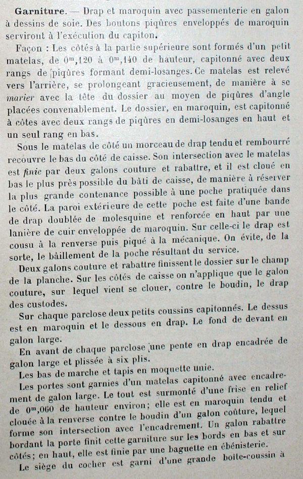 Descriptifs et plans de landaus en 1896