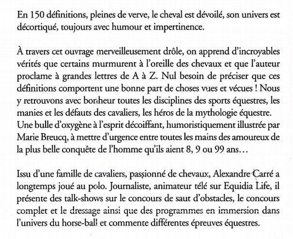 Petit dictionnaire Absurde § Impertinent du Cheval