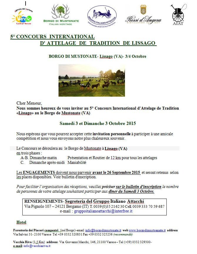 CIAT Lissago 3-4 Octobre 2015