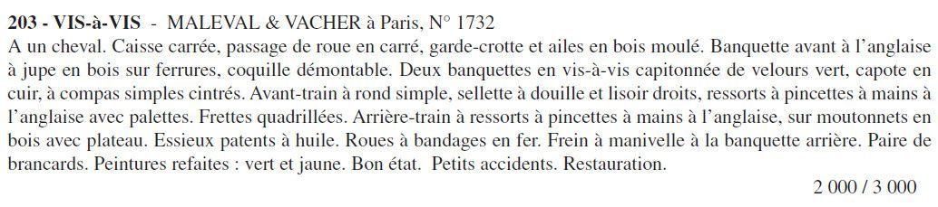 Album photos vente Pau; Harnais XVIII°, voitures,...