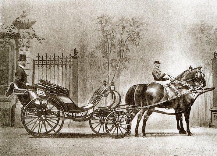 Duc du comte de Lambertye attelé en demi d'Aumont. Photo Delton, 1866.