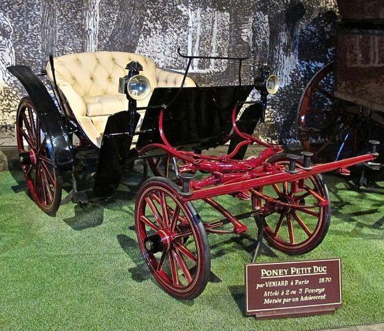 Poney petit duc par Veniard. Paris 1870. À 2 ou 3 poneys.