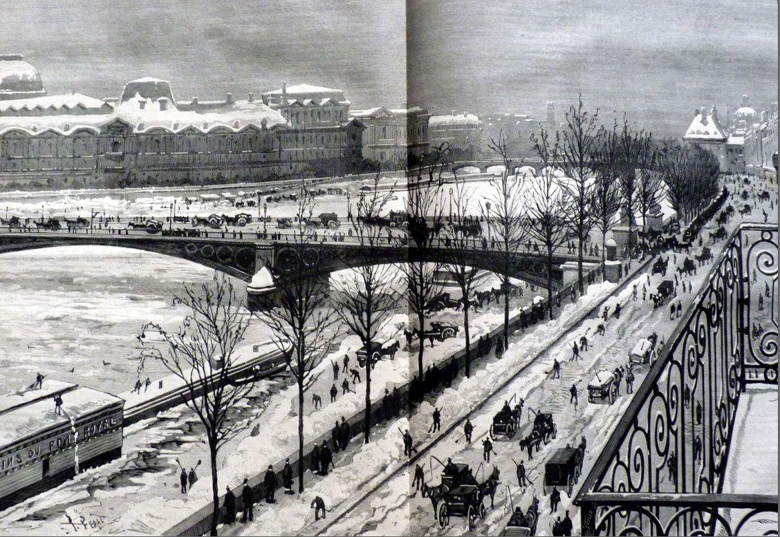 Paris sous la neige (Monde illustré janvier 1879