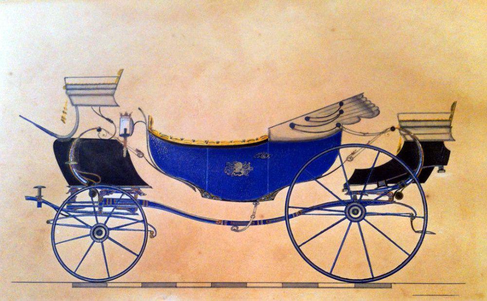 Calèche huit ressorts Moussard 1849