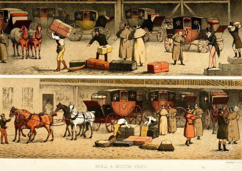 Détails de la cour des postes de Birmingham 1836