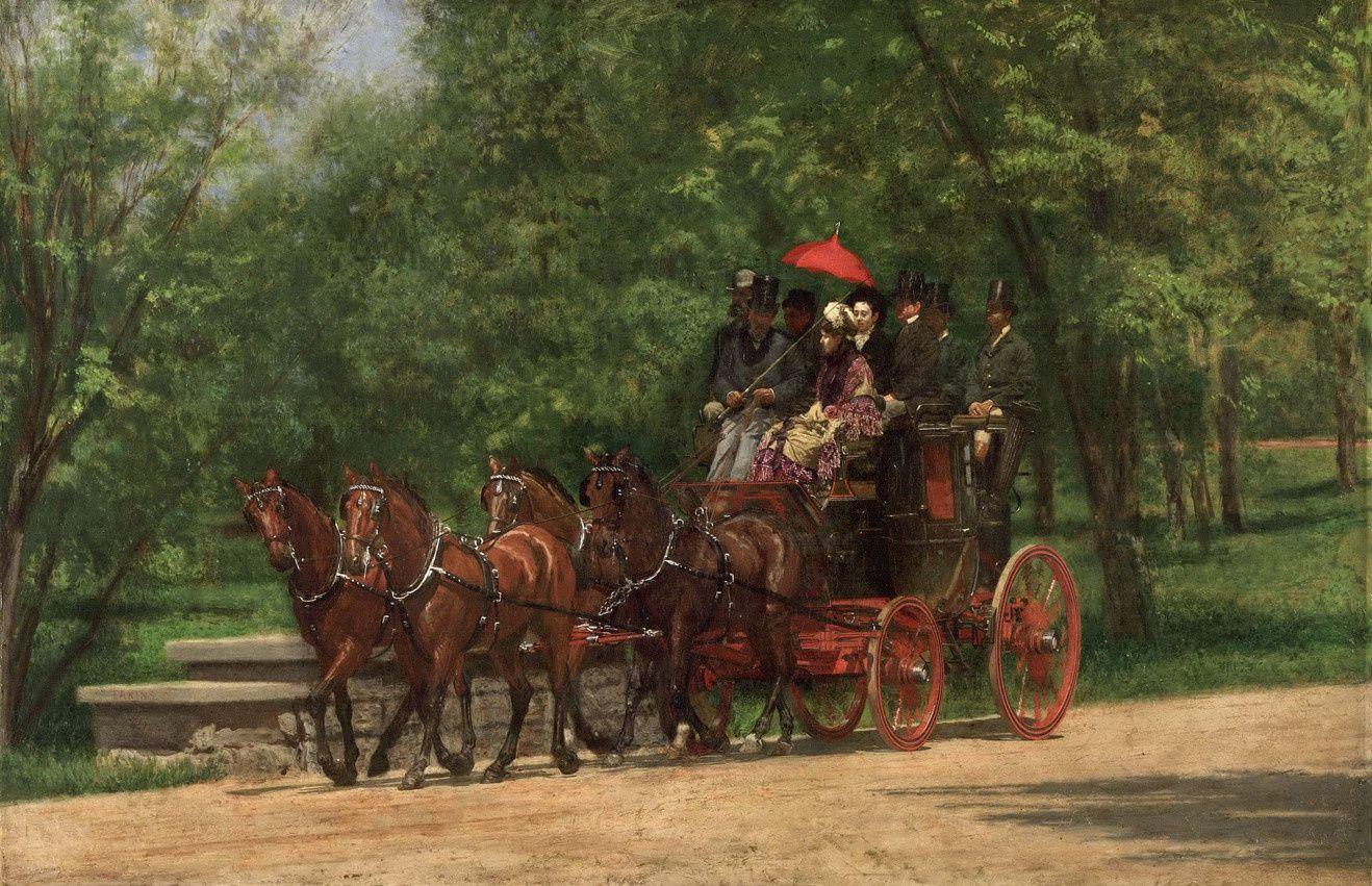 Le coach de l'auteur américain Fairman Rogers peint par Eakins 1879-80