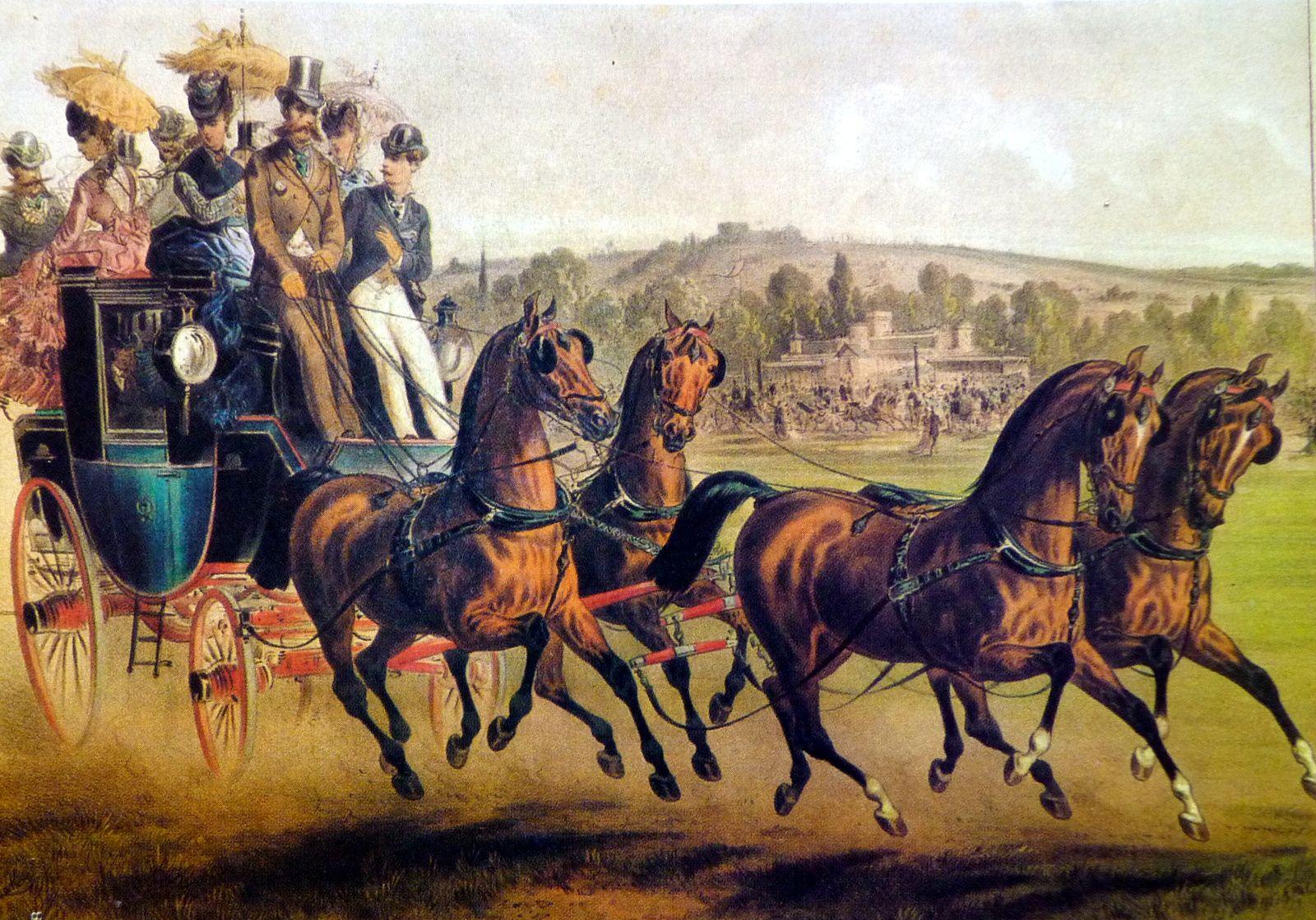 Duc de Morny lors d'une fête organisée par le prince de Sagan dans le parc de la marche