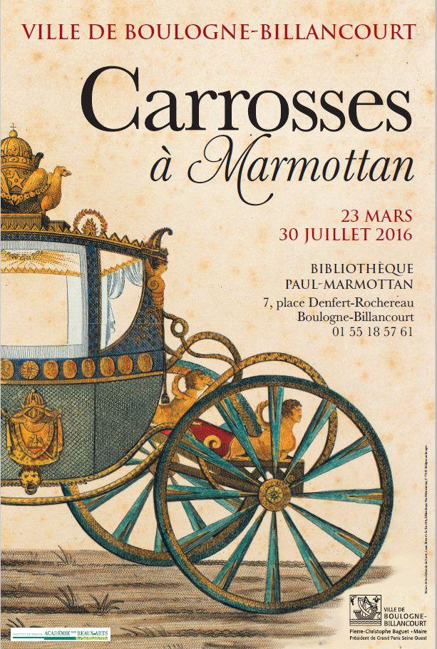 """Exposition: """"Carrosses à Marmottan"""" du 23/03 au 30/07 2016"""