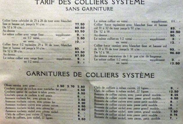 Catalogue de colliers et harnais de travail Renaud à Paris