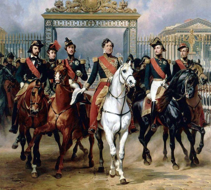 Louis Philippe à cheval