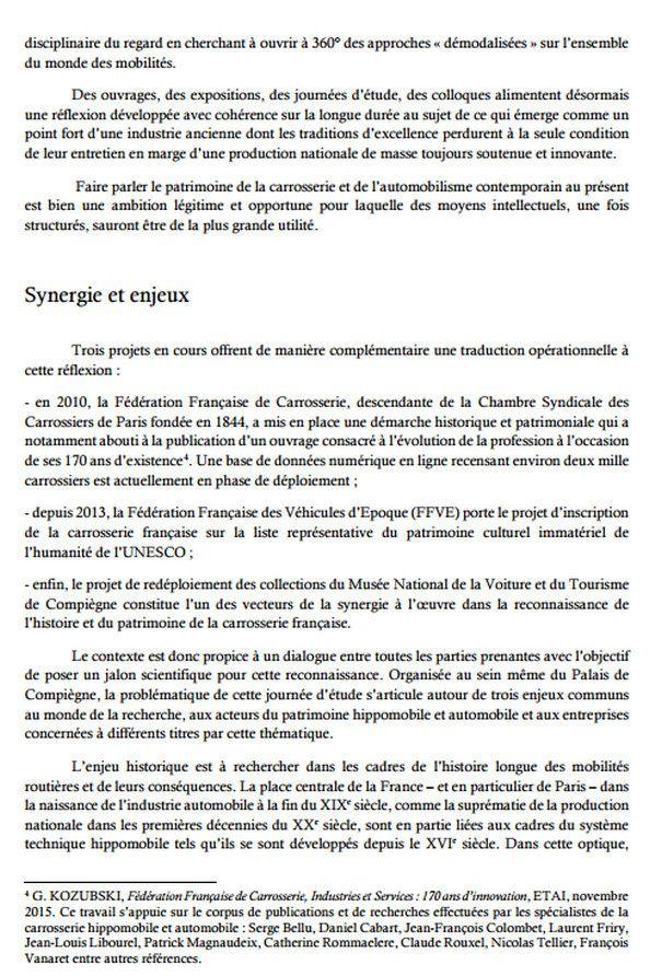 Programme colloque  au musée de Compiègne le 9 Juin.