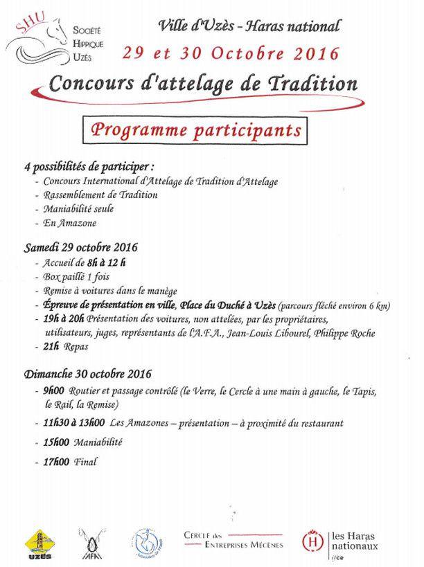 CAT et rassemblement de tradition à Uzes 29-30 octobre