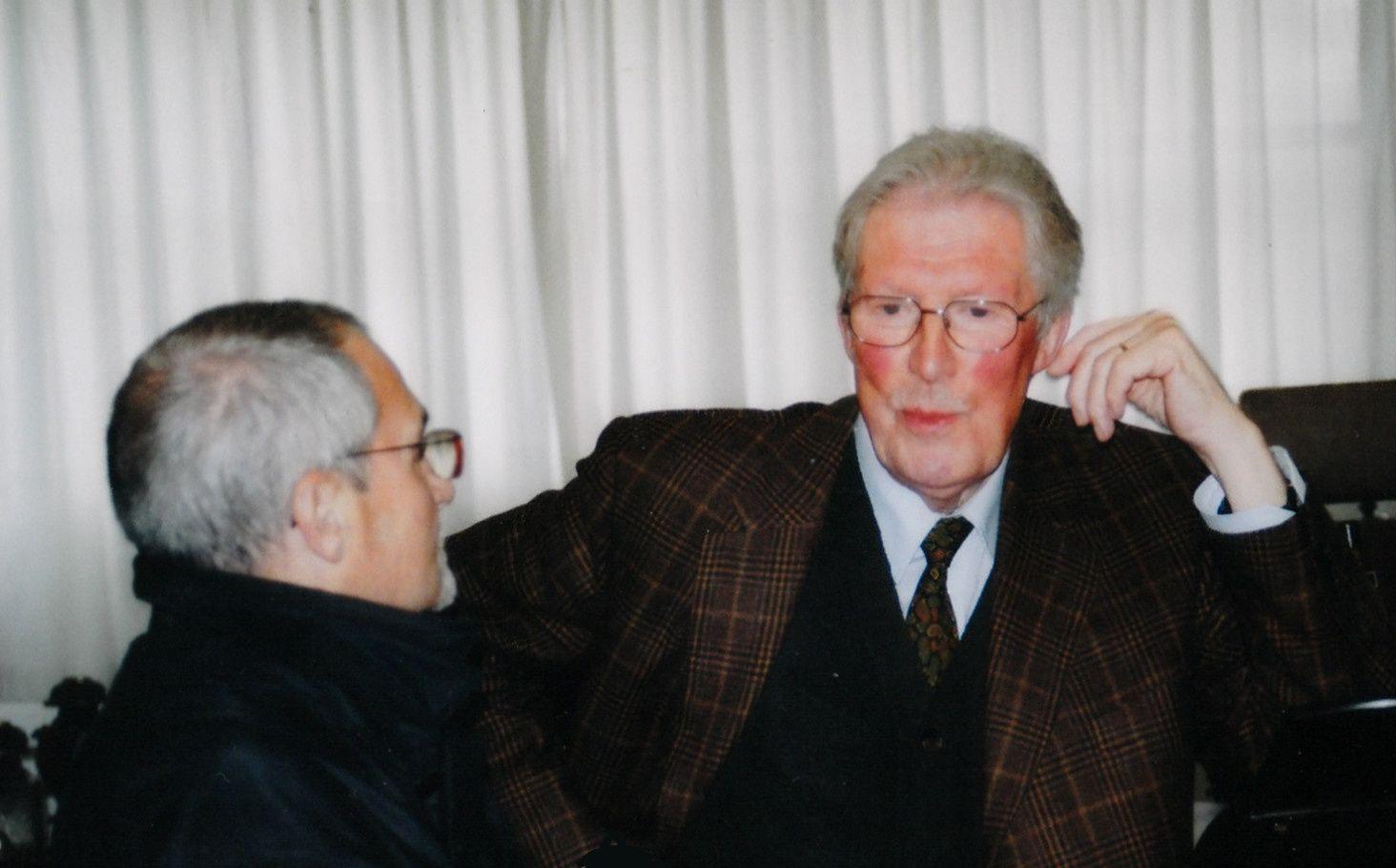 Le maître et l'élève, à Augsbourg chez le grand collectionneur Rudolf Stief, le 10 octobre 2007.