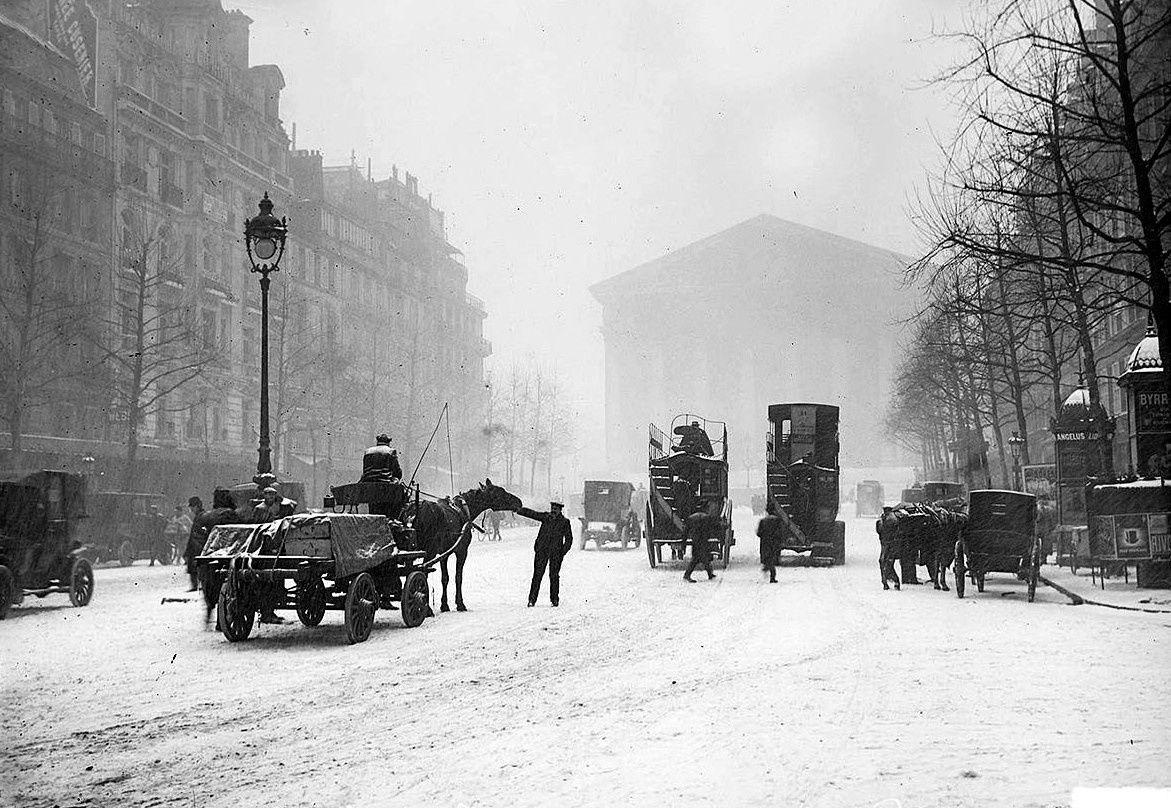 Rue royale et Madeleine 1908 (crédit:Salut Paris)