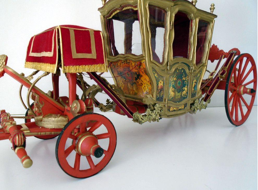 Carrosse d'origine française utilisé lors du mariage d'Alphonse VI en 1866