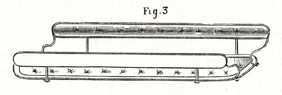 Dessin extrait du guide du carrossier de 1864 (collection de l'auteur)